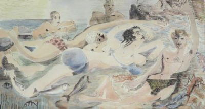 Blair Hughes-Stanton Bathers, Cassis, 1939