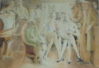 Blair Hughes-Stanton Pub Scene, 1945