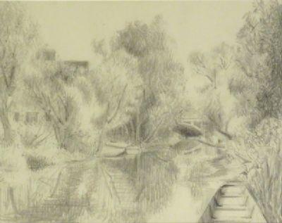 Blair Hughes-Stanton Stour Drawing, 1945