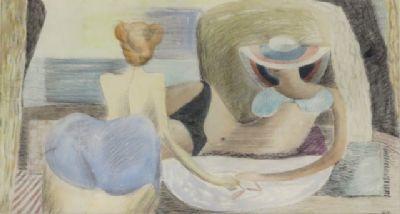 Blair Hughes-Stanton Sunbathers, Cassis, 1938