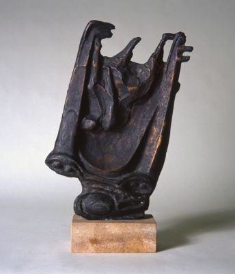 Figure with Car 1954