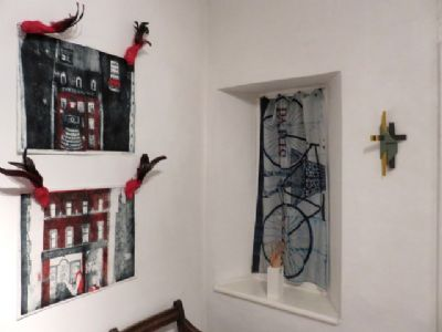 Prints, Scarf: Nishiwaki Sculpture: Bingham