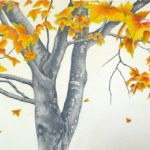 ALI MORGAN Spring - Summer - Autumn - Winter - Forty Tree Drawings Autumn 05