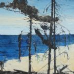 SUMMER LIGHT paintings and prints by ten artists Ffiona Lewis Atlantic Pine