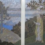 MICHAEL TINGLE INTAGLIO MYTHS Landscape with Good Reception I
