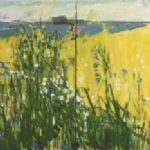 Ffiona Lewis, Meadow on Chrome Yellow -