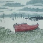 Old Red Boat on the Ore -