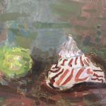OLIVER SOSKICE Paintings Shell and lime 1