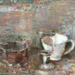 OLIVER SOSKICE Paintings Still life bowl cup wine glass