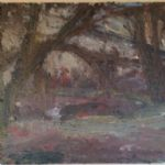 Thomas Robinson Recent Paintings Under Trees Towards Pond