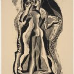 Two People - GERTRUDE HERMES OBE, RA, RE (1901-1983)