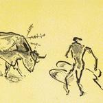 GERTRUDE HERMES Wood-engravings, Linocuts & Drawings Bullfight 1 1952