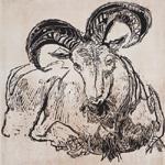 GERTRUDE HERMES Wood-engravings, Linocuts & Drawings The Ram 1958