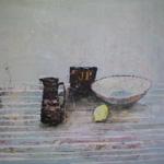 FFIONA LEWIS Paintings JP on Linen
